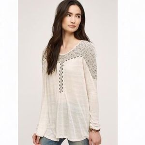 Anthropologie / Meadow Rue Oatmeal Tunic NWT L